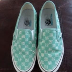 Womens Slip On Distressed  Vans 7.5 fits like an 8